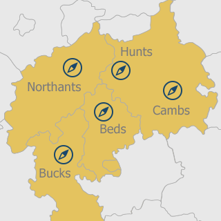 Map of the areas we cover
